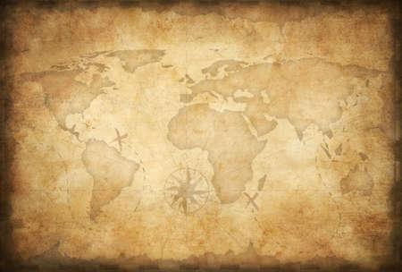 carte tr�sor: personnes �g�es fond de carte au tr�sor