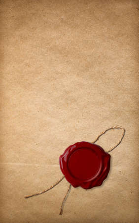 seal brown: old paper and red wax seal
