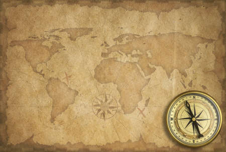 adventure and exploration vintage background Stock Photo - 18355765