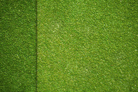 grass texture on artificial golf field top view photo