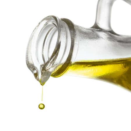 Gota de aceite de oliva de cerca Foto de archivo