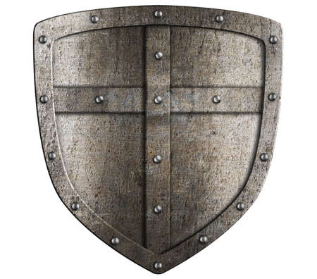 crusader: crusader metal shield illustration isolated on white