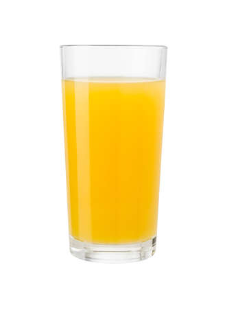 orange juice: Orange juice in glass isolated on white with clipping path included Stock Photo