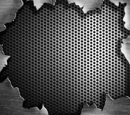 갈라진 금: 그런 철강 금속 배경