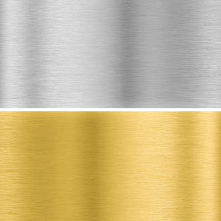 brushed gold: silver and gold metal textures