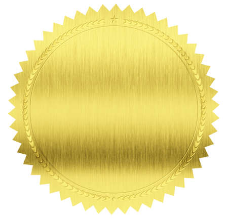 gold seal label with clipping path included Stock Photo - 19080245