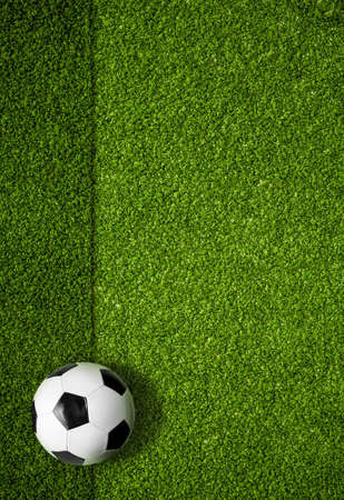 soccer field and ball top view background Stock Photo - 19377658