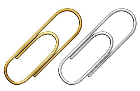 clipe de papel: de metal clipe de papel definido isolado com trajeto de grampeamento inclu�do