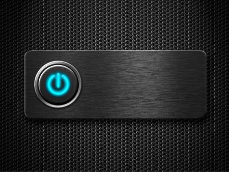 poweron: computer or electricity power button design Stock Photo