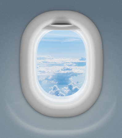 window of airplane or aeroplane photo