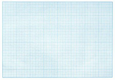 그리드: 밀리미터 파란색 그래프 용지 실제 사진 스톡 사진
