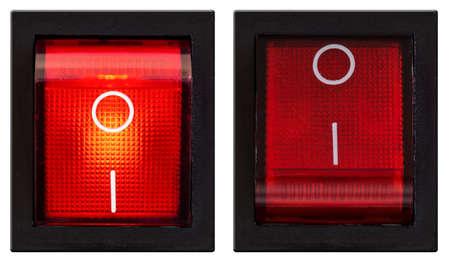 Interruptor de encendido enciende y apaga conjunto aislado Foto de archivo - 20408009