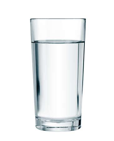 vidrio: vaso de agua aislados con trazado de recorte incluidos