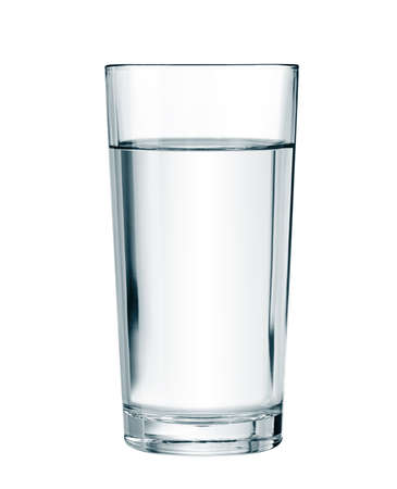 water drink: water glass isolated with clipping path included