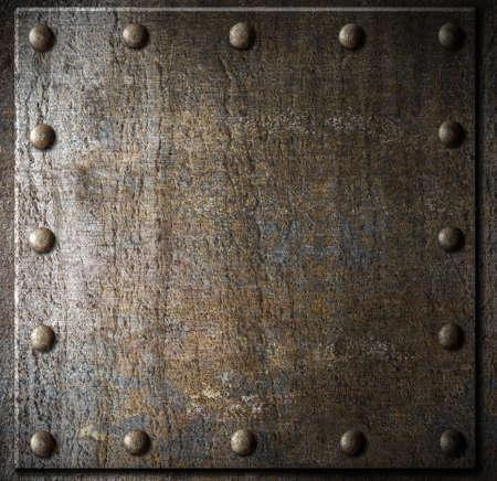 녹슨: 리벳 금속 배경 스톡 사진