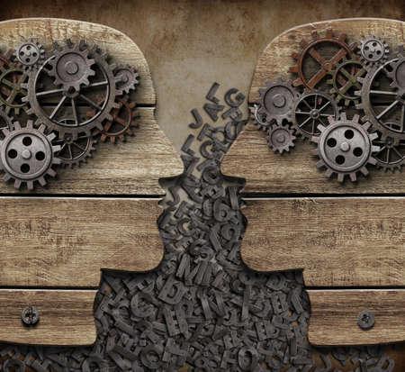 communication: personnes concept de communication