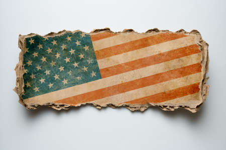 USA flag on cardboard piece photo