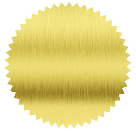 gold foil stamp with clipping path included Stock Photo - 20919624