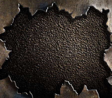 the hole: grunge metal background