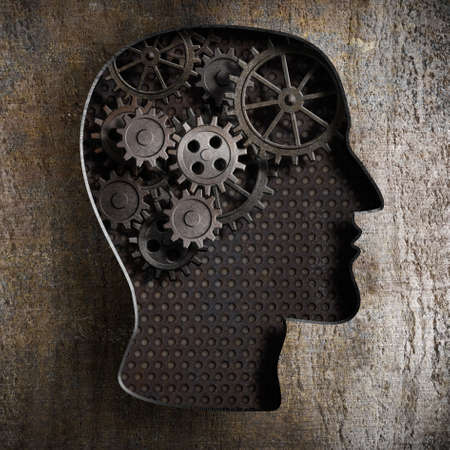Brain work concept: gears and cogs from old rusty metal Stock Photo - 21151638
