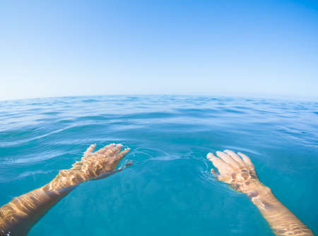 Sea blue view from first person