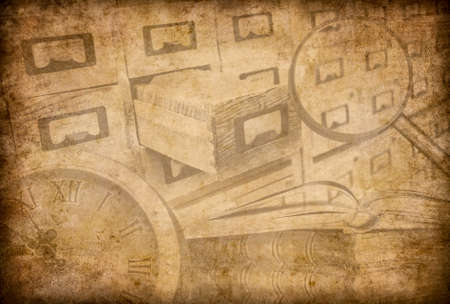 depository: Archive or museum grunge background