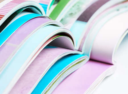 Pile of opened magazines Stock Photo - 22346166