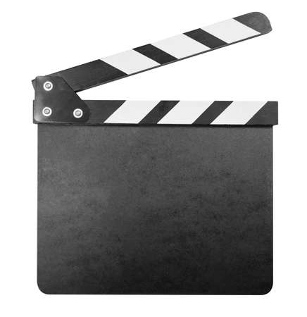 Clapper board isolated with clipping path included photo