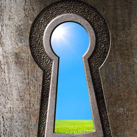 Keyhole concept Stock Photo - 22558885