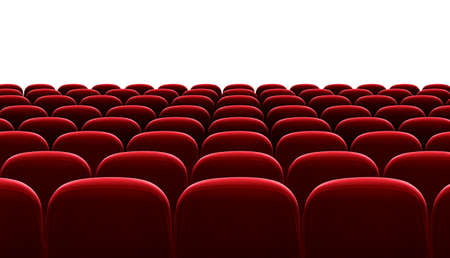 red auditorium chairs isolated photo