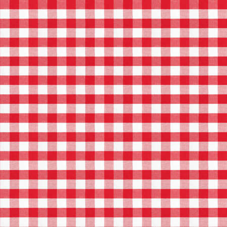 real seamless pattern of red gingham classic tablecloth photo