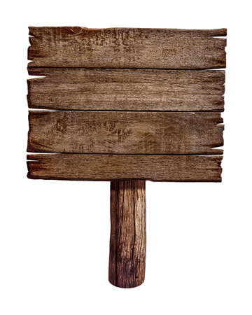 wooden post: Wooden sign board  Old post panel made from wood