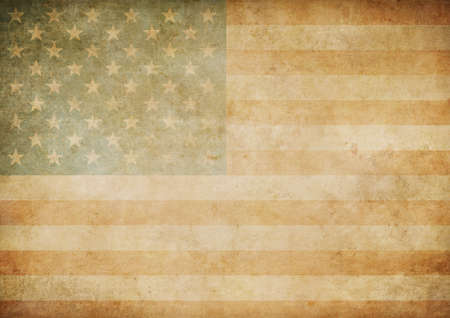 holiday background: american or usa old paper flag background Stock Photo