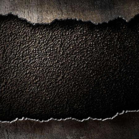 metalen achtergrond met gescheurde randen Stockfoto