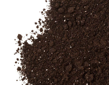 Soil or dirt crop isolated on white background photo