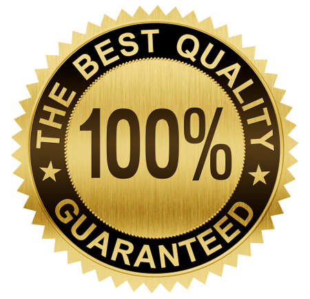 best quality: best quality guaranteed gold seal medal with clipping path included Stock Photo