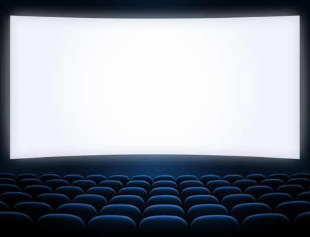 cinema screen: cinema screen blue seats