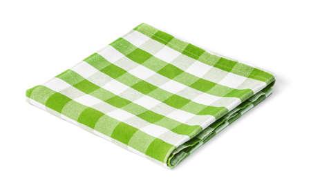 groene picknick tafelkleed geïsoleerd Stockfoto