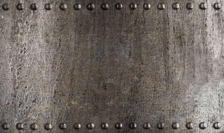 armour plating: metal armour