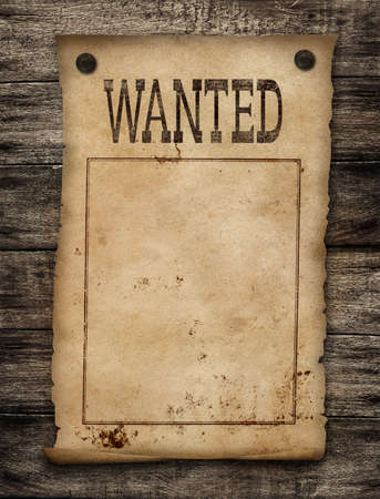 wanted: Wanted dead or live paper Wild west poster  Stock Photo
