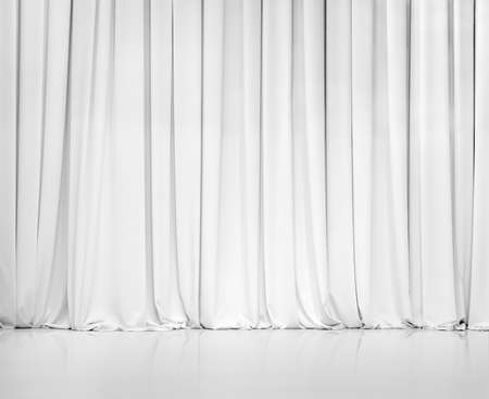 stage background: white curtain or drapes