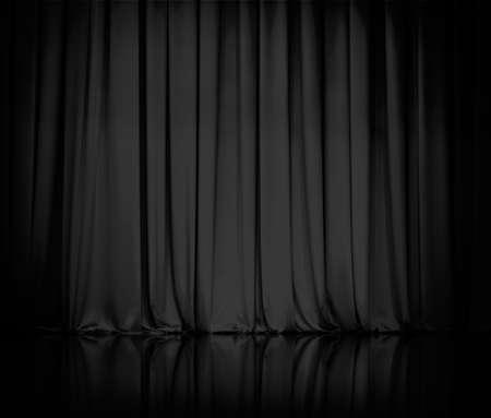 Vorhang oder Gardinen schwarz Standard-Bild - 23716732