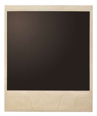 antique frame: polaroid photo frame isolated Stock Photo
