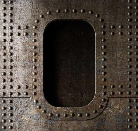 old metal porthole