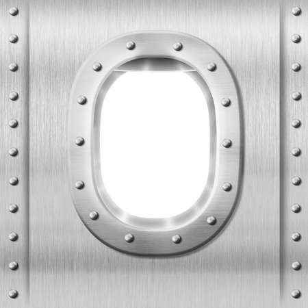 sidelight: metal porthole or window background