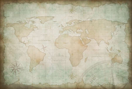 exploration: old exploration and adventure map
