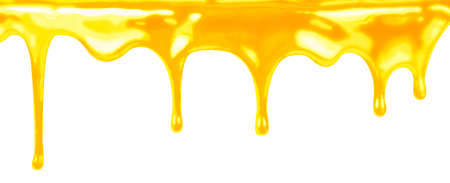 trickle: honey dripping on white