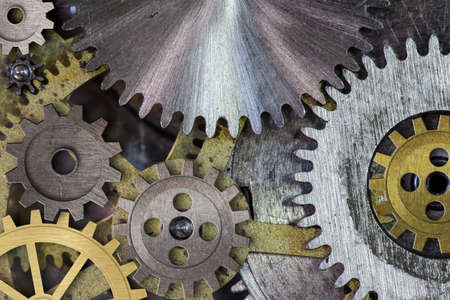 clock mechism gears and cogs macro