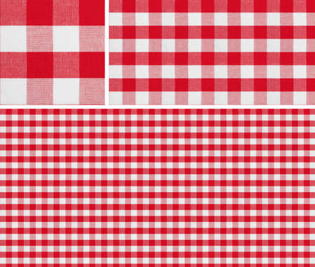 red gingham: Seamless picnic pattern Stock Photo