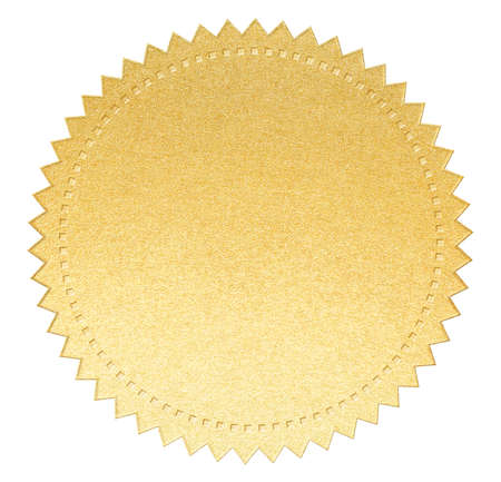 gold seal: gold paper seal label